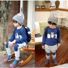 Size 110 Blue - 2Pcs Boys Winter Shirt + Pants