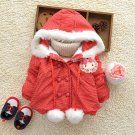 Size 120 Red - Fashion Cute Girls Hooded Jacket