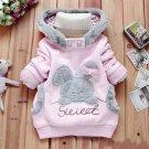 Size 120 Pink - Children Fashion Fleece Sweater