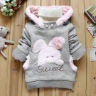 Size 90 Grey - Children Fashion Fleece Sweater