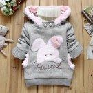 Size 100 Grey - Children Fashion Fleece Sweater