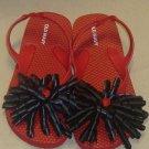Ladybug Flip Flop Handmade size 11