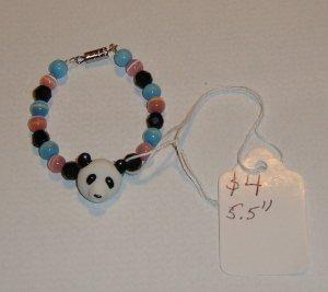 "Handmade PANDA Bracelet 5.5"""