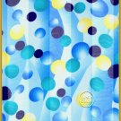Blue Bubbles Satin Scarf