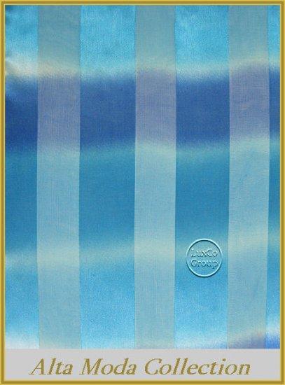 Blue Pin Stripe Satin Scarf