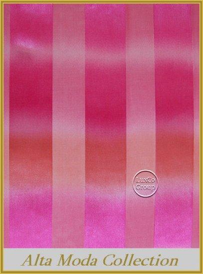 Pink Stripe Satin Scarf