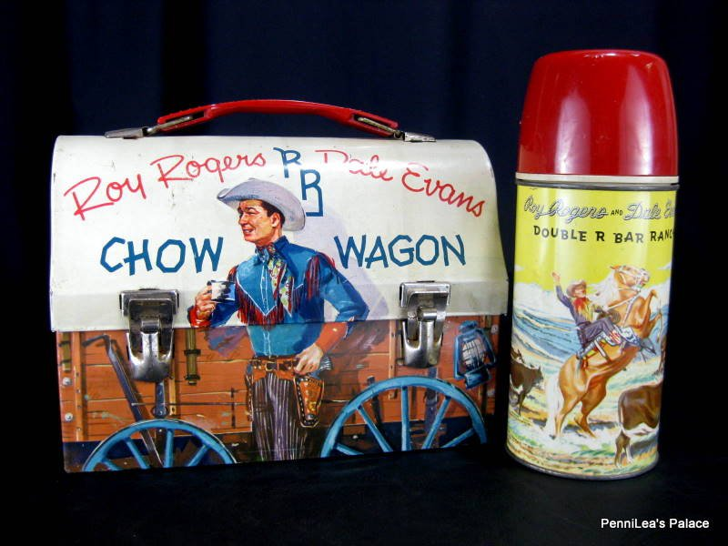 Roy Rogers RR Dale Evans Chow Wagon Dome Top Lunchbox & Thermos