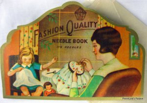 Vintage Elgee Fashion Quality Gold Eye Sewing Needle Book