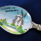Vintage Island of Nantucket/Windmill Souvenir Enamel Bowl Spoon