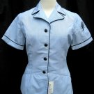 Women's Vintage Military Fitted Short Sleeve Shirt Size 10 R