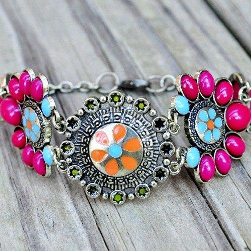 Indian inspired cuff bracelet