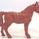 Vintage Ceramic CARVED WOODGRAIN HORSE FIGURINE