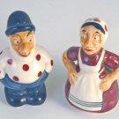 "ENESCO-Japan ""Old Lady & Man"" Salt & Pepper Shakers Set"