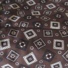 "Cotton Brown Bandana Fabric 36"" x 54"""