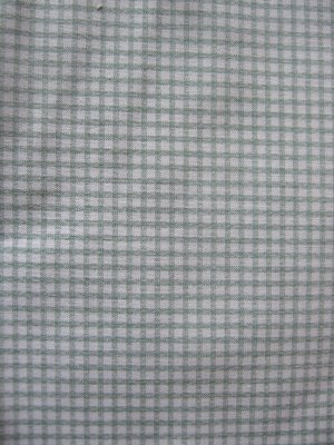 """Vintage Green and White Gingham Check Cotton Fabric 6 pieces each 28"""" x 17"""""""