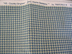 2 Yards Waverly Home Seasons Country Gingham 100% Cotton Fabric Blue and Cream