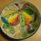 "Beautiful Vintage Italian Fruit Motif Bowl 9 3/4"" Diameter"