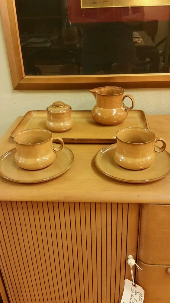 Casarte Italy Tea/Coffee Set Mugs Saucers Tray Sugar Creamer
