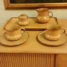 Casarte Italy Tea/Coffee Set Mugs Saucers Tray Sugar Creamer