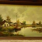 Large Vintage Brazilian Brazil Landscape Oil Painting