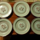 Set of 6 Franciscan Ware Padua Celadon Plates