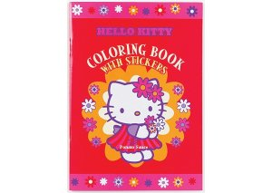 Hello Kitty Red Coloring Book