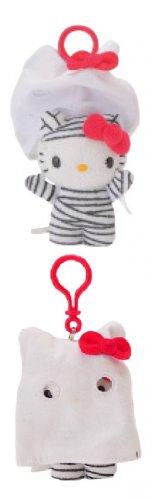Hello Kitty Ghost Plush Key Ring - Zombie