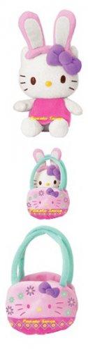Hello Kitty Easter Bunny Mascot Plush - Purple Bow