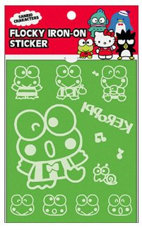 Keroppi Flocky Iron-On Sticker