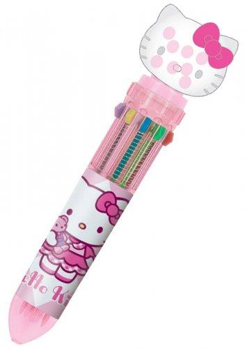 Hello Kitty 10C Ballpoint Pen with Mascot - Pinktone