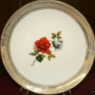 COLLECTOR BAVARIA RED GRAY ROSE PLATE DISH MITTERTEICH