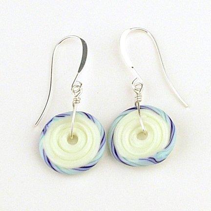 HMB Studios - Lampwork Disc Bead Earrings