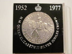 H.M. Queen Elizabeth II Silver Jubilee Crown 1952-1977 Collectible Coin