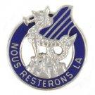 ARMY CREST 3RD INFANTRY DIVISION MOTTO: NOUS RESTERONS LA 1 PAIR