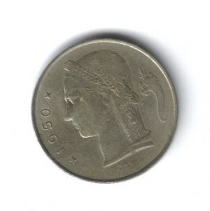 Coin of 1 Franc 1950 (Belgie) from Belgium