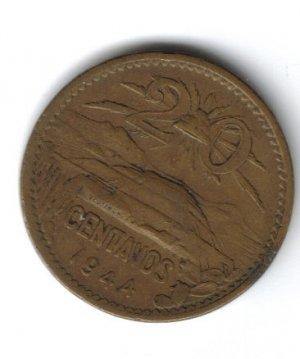 1944 20 Centavos