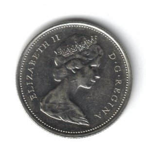 CANADA 1975 25 CENTS COIN
