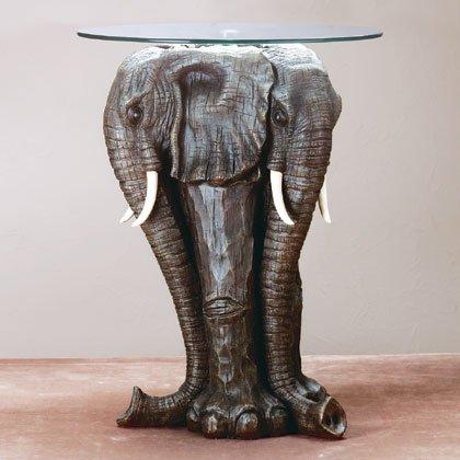 Elephant Glass Table
