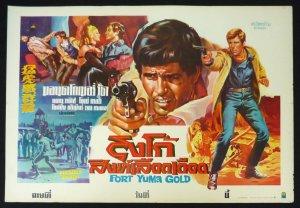 Original Fort Yuma Gold Thai Movie Poster Italian Cowboy Movie