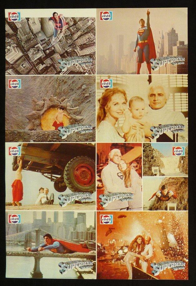 Original Superman 1 Lobby Card Thai Movie Poster Christopher Reeve