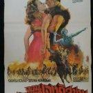 Original  Vintage The Conqueror 1956 Thai movie Poster John Wayne