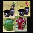 Ltd Set 4 Avenger 2 Age of Ultron Hulk Figure Topper Cup Iron Man Chest  Punch +