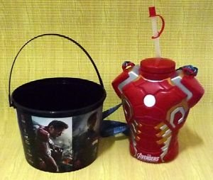 Ltd Avenger 2 Age of Ultron Iron Man Chest Canteen Drinks Cup + No Action figure