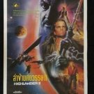 Original  Vintage Highlander II 1991 The Quickening Thai movie Poster
