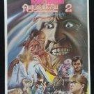 Orig. Vintage From Beyond 2 1986 Thai movie Poster Wars  No Blu Ray