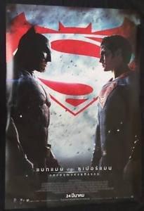 Orig. Batman Vs Superman 2016 Thai 1 Sheet 27x40 in Movie Poster Single Side