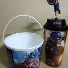 Captian America Civil War Topper Action Figure Toy  Cup Popcorn Tub Chris Evans