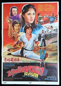 Vintage The 7 Grandmasters  Movie Thai Poster Matrial Arts Kung Fu Angela Mao