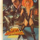 Saturn 3 Thai Movie Poster 1980  Farrah Fawcett Kirk Douglas  Harvey Keitel