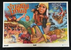Orig Vintage Eric The Viking Thai Movie Poster  No Blu Ray DVD Montgomery Wood